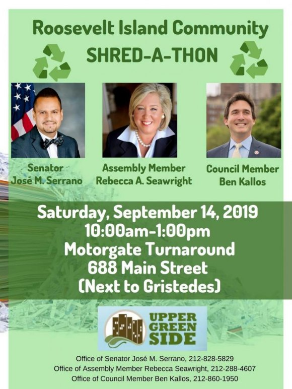TODAY: 10:00 to 1:00, Join your neighbors at the Shred-A-Thon